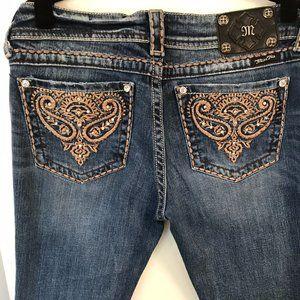 MissMe Distressed Blue Denim Jeans 31